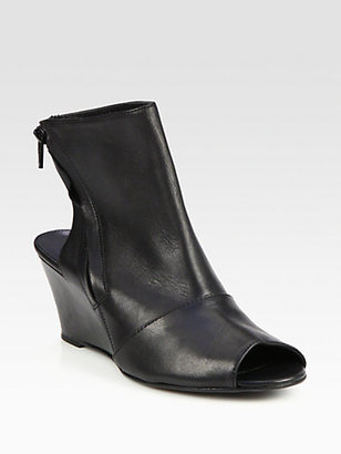 Surface to Air Kim Leather Wedge Ankle Boots