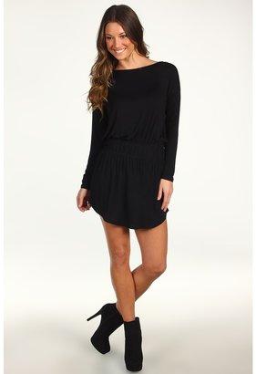 BCBGMAXAZRIA BCBGeneration - Drape Back Dress (Black) - Apparel