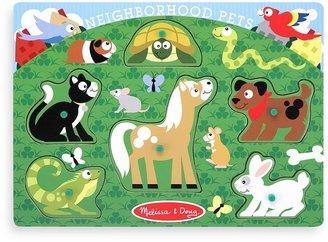Melissa & Doug Pet Animals Peg Puzzle