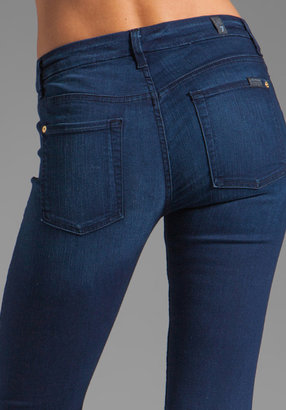 7 For All Mankind Mid Rise Skinny Slim Illusion