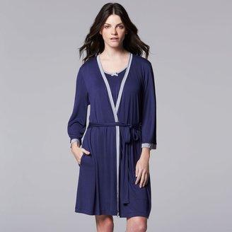 Women's Simply Vera Vera Wang Basic Luxury Wrap Robe
