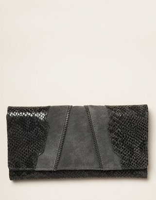 Figleaves Leather and Suede Snake Skin purse