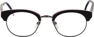 Thom Browne Matte Black Horn Rim Glasses