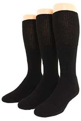 Thorlos Combat Boot 3-Pair Pack (Black) Crew Cut Socks Shoes