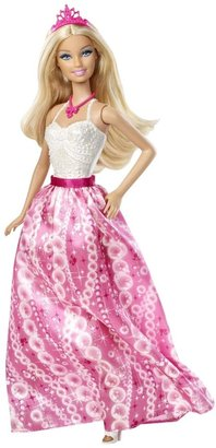 Barbie Fairytale Princess Fashion Doll, Pink and White