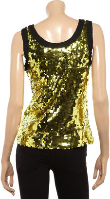 D&G Sequined tulle top