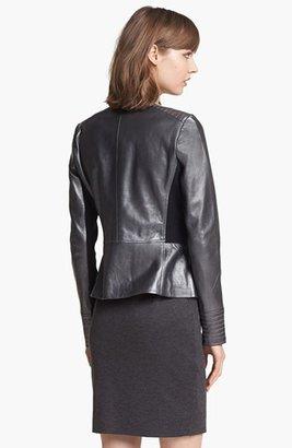 Trouve Trouvé Metallic Leather Biker Jacket