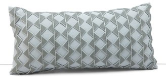 """Dransfield and Ross House Alhambra Zig Zag Ribbon Breakfast Pillow, 11"""" x 22"""""""