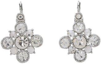 Betsey Johnson Crystal Rhodium Drop Earrings (Crystal) - Jewelry