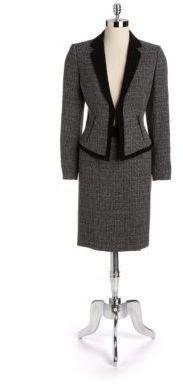 Tahari ARTHUR S. LEVINE Tweed Two-Piece Skirt Suit
