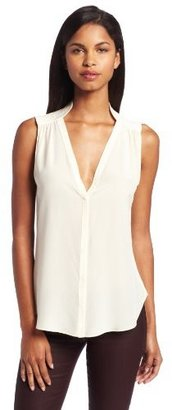 Rory Beca Women's Sleeveless Blouse with Quilting