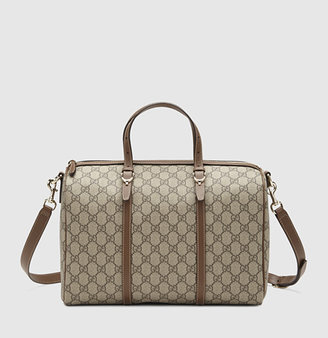 Gucci nice GG supreme canvas boston bag