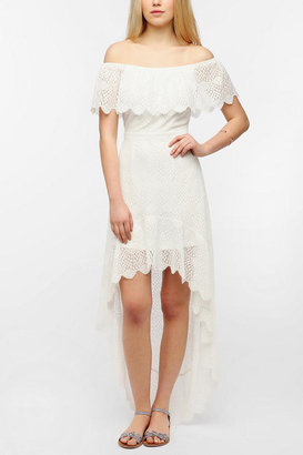 Urban Outfitters Pins And Needles Lace Off-The-Shoulder Maxi Dress