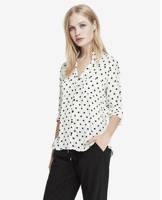 Express original fit polka dot portofino shirt $59.90 thestylecure.com