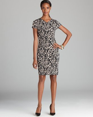 Vince Camuto Animal Print Cap Sleeve Dress