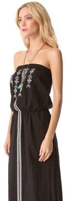 Velvet Embroidered Maxi Dress