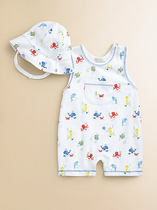 Kissy Kissy Infant's Oceans Alive Playsuit & Hat Set