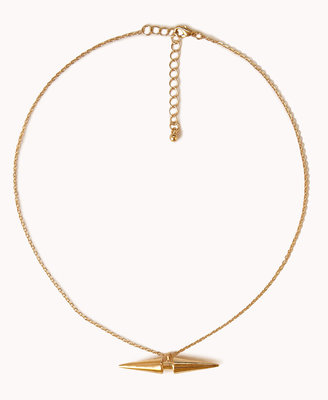 Forever 21 Double-Spike Necklace