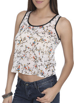 Wet Seal WetSeal Cage Back Bird Tank Ivory