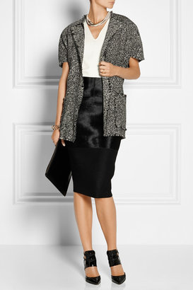 Lanvin Wrap-effect wool-blend tweed jacket