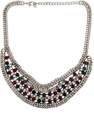 Blu Bijoux Colorful Crystal Bib Necklace