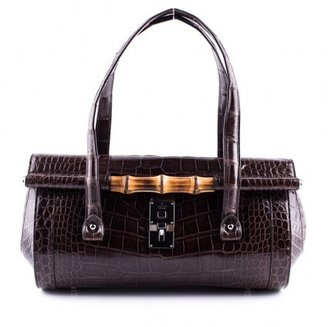 Gucci excellent (EX Tom Ford Brown Crocodile Bag