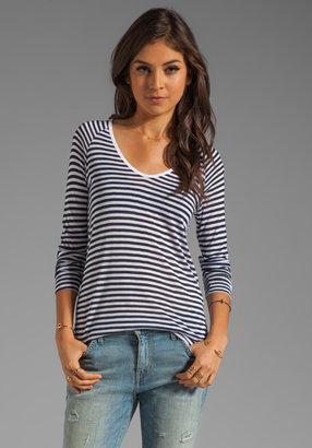 Soft Joie Camile Resort Stripe Top in Peacoat/Porcelain