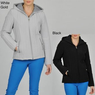 Esprit Women's Vertical Quilted Hooded Jacket $64.99 thestylecure.com