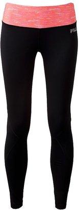 Fila sport space-dye reflective performance running leggings