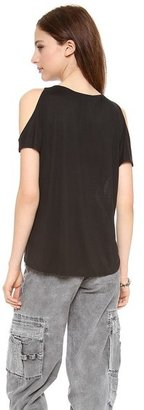 Alice + Olivia AIR by Open Shoulder Tee