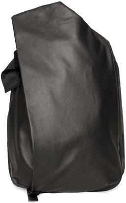Côte and Ciel Isar Medium Black Coated Canvas Backpack