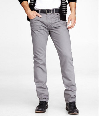 Express Rocco Slim Fit Skinny Leg Jean - Gray