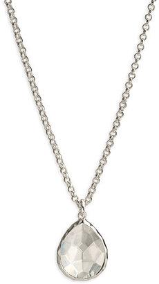 Ippolita Women's 'Wonderland' Mini Teardrop Pendant Necklace - Sterling Silver- Clear Quartz (Online Only)