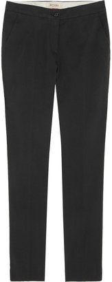 Etro Cropped stretch-cotton pants