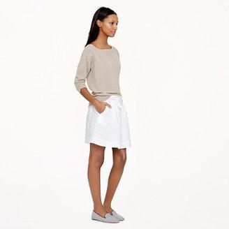 J.Crew Boardwalk linen skirt in white
