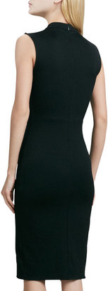 Halston Stand Collar Ponte Dress