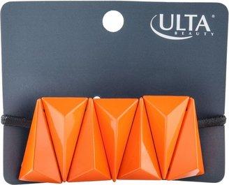 Ulta Orange Geometric Ponytail Holder