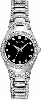 Bulova Women Crystal Stainless Steel Bracelet Watch 25mm 96L170