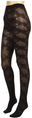 Anna Sui Swirl Floral Tight/Solid Microfiber Tight (2 Pack)