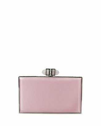 Judith Leiber Couture Satin Coffered Rectangle Clutch Bag, Light Rose $2,195 thestylecure.com