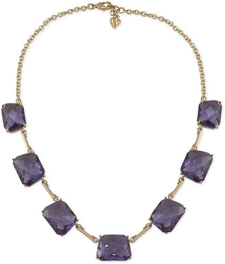 Carolee Necklace, Gold-Tone Large Glass Stone Faceted Bead Statement Necklace Web ID: 755222