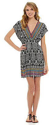 Angie V-Neck Printed Dress