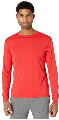 Columbia PFG ZERO Rulestm L/S Shirt (Red Spark) Men's Long Sleeve Pullover