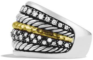 David Yurman Midnight Mélange Ring with Diamonds