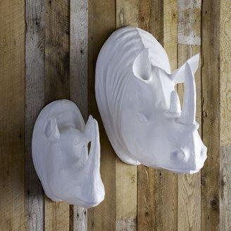 west elm Papier-Mâché Animal Sculpture - Rhinos