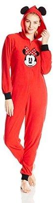 Disney Women's Minnie Mouse Microfleece Jumpsuit $13.58 thestylecure.com