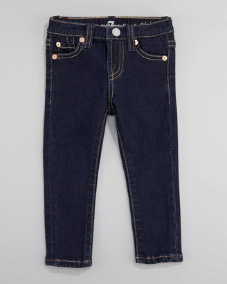 7 For All Mankind Rinse Denim Skinny Jeans