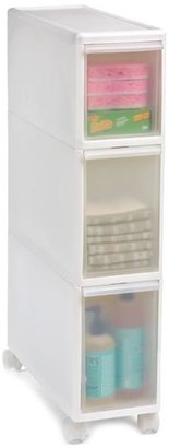 Container Store Like-it® Slim Tower w/ Casters White