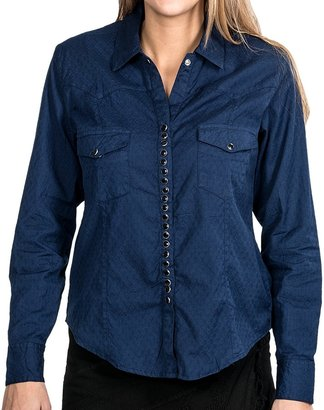 Scully Diamond Jacquard Western Shirt (For Women)