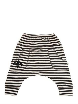 Striped Cotton Jersey Pants